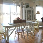 White Painted Farmhouse Table