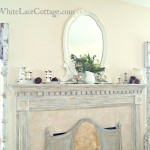 Rosemary,Ironstone and a Christmas mantle