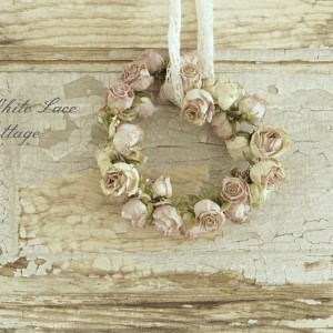 Dried roses Wreath