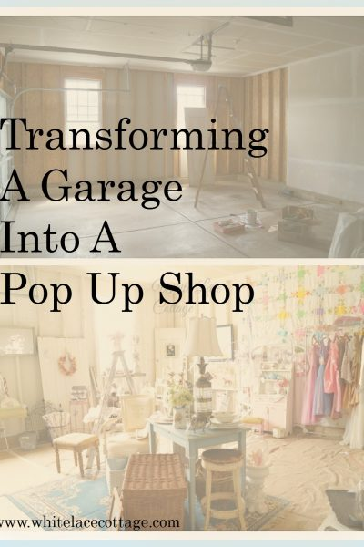 Garage Transformed Into A Pop Up Shop