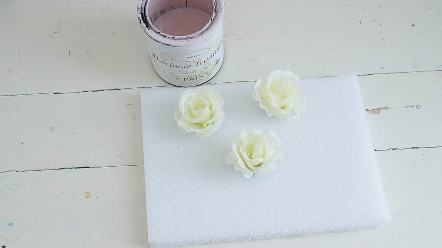 DIY porcelain roses from chalk paint heirloom traditions paint (1 of 8)