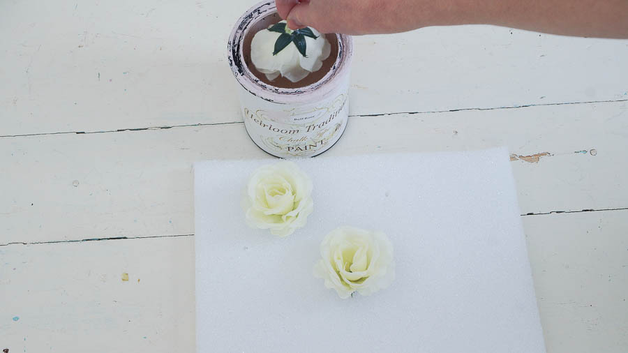 DIY porcelain roses from chalk paint heirloom traditions paint (3 of 8)