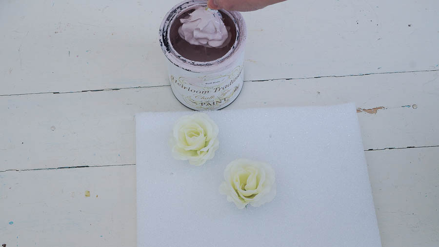 DIY porcelain roses from chalk paint heirloom traditions paint (5 of 8)