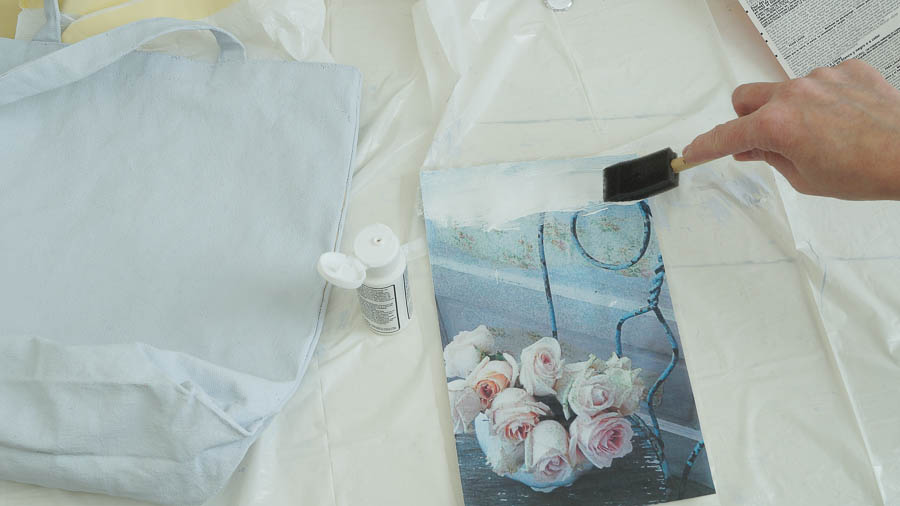 mod podge photo transfer on chalk painted tote bag (8 of 10)