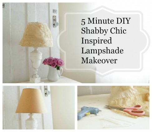5 minute diy shabby chic inspired lampshade makeover