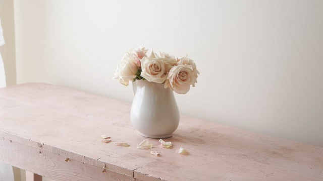 painting glass bottles vases heirloom traditions paint white lace cottage shabby chic posh pink (20 of 29)