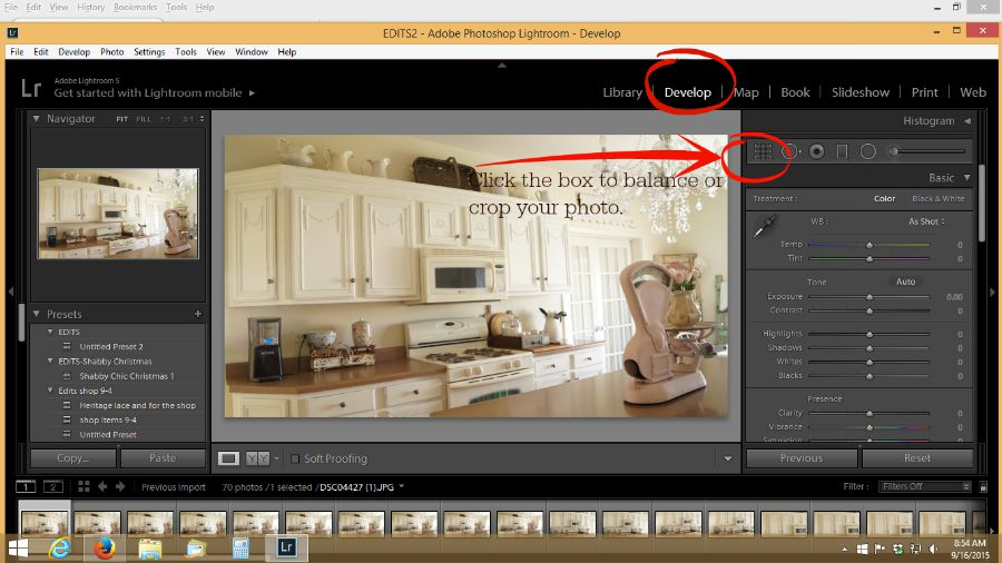 How to balance in lightroom
