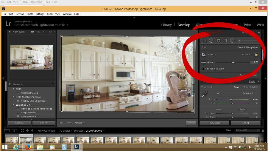 adjust photos in lightroom