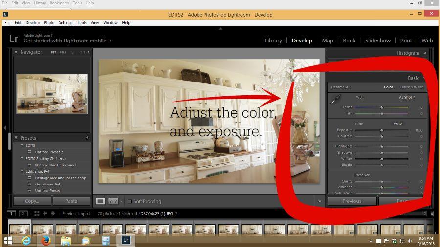 how to adjust color in lightroom