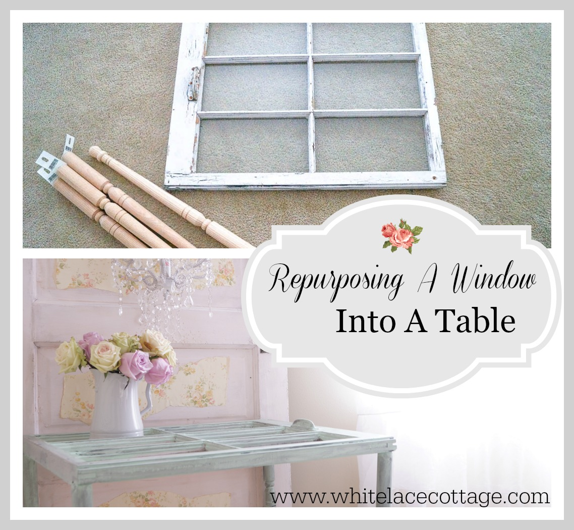 DIY Repurpose An Old Window Into A Table
