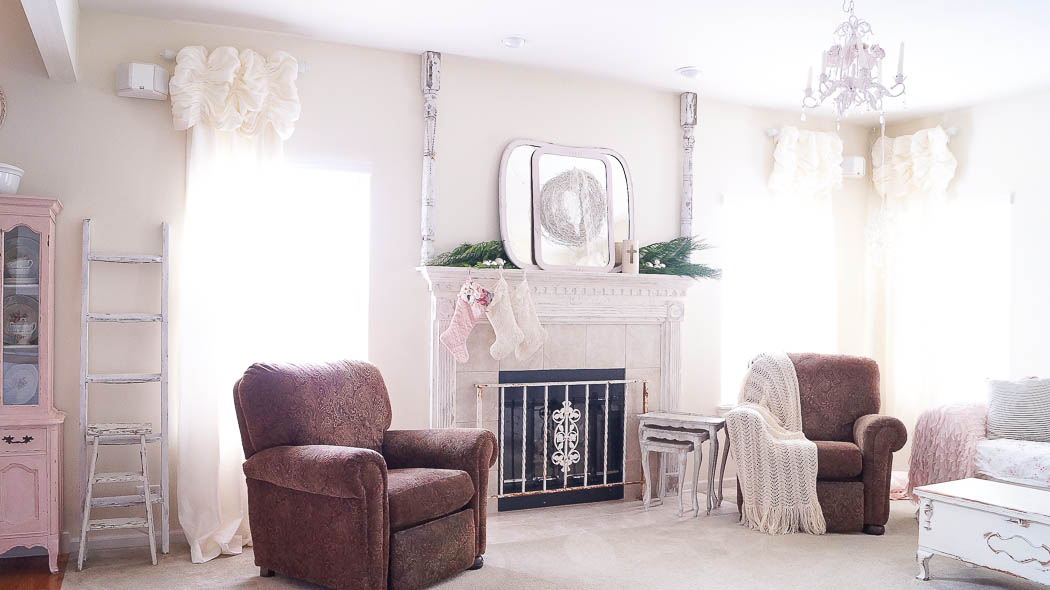 white lace cottage holiday christmas home tour shabby chic-07723