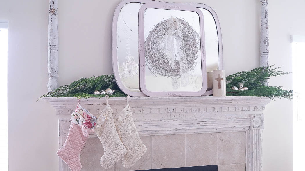 white lace cottage holiday christmas home tour shabby chic-07738