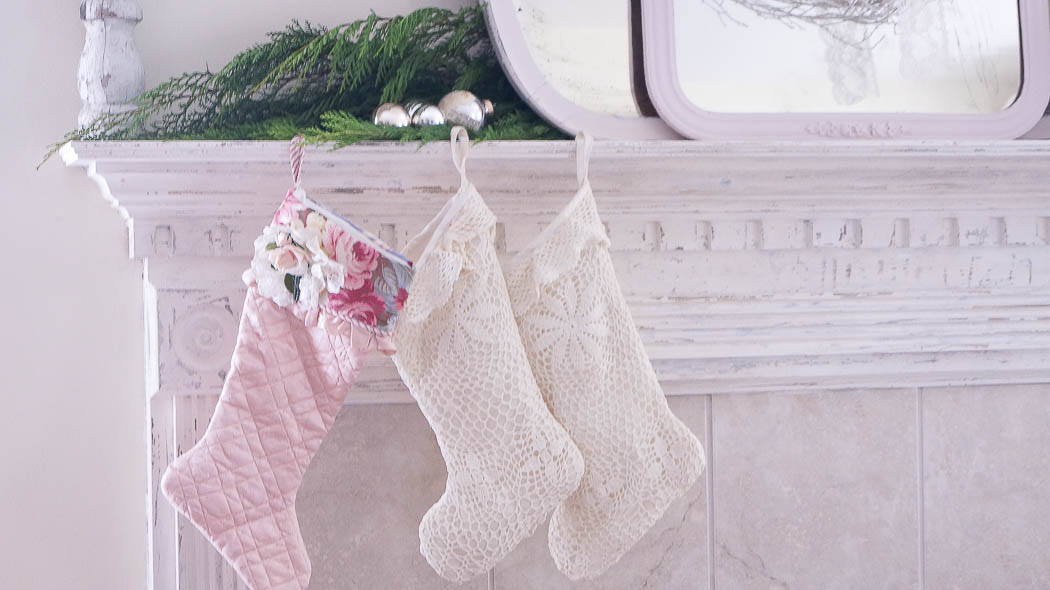 white lace cottage holiday christmas home tour shabby chic-