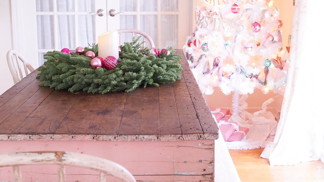 white lace cottage holiday christmas home tour shabby chic-07878