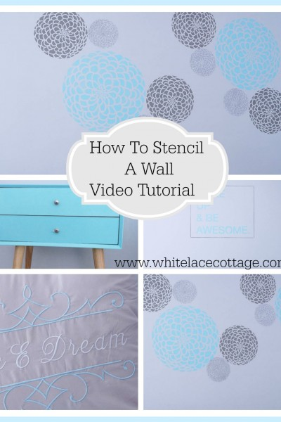 How To Stencil A Wall Easy Tutorial