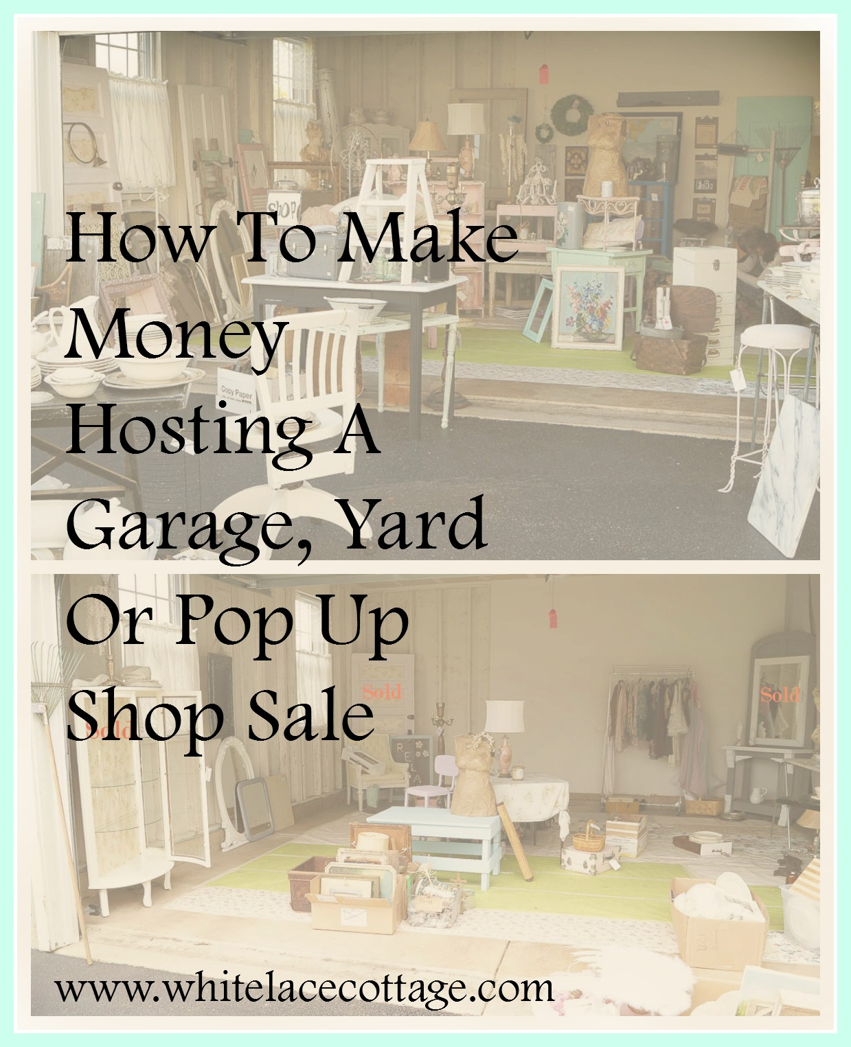 Make money hosting garage sales, it a great way to make extra money. I've hosted many of these over the years. I've learned from each one. I'm sharing tips on how to have a successful sale.
