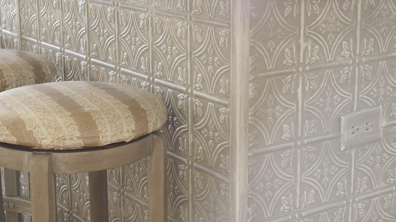 Faux Tin Ceiling Tiles Kitchen Island