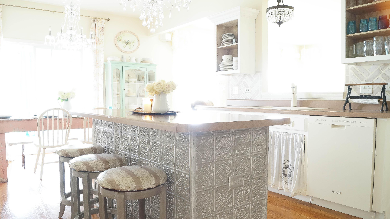 faux tin ceiling tiles kitchen island - Faux Tin Ceiling Tiles