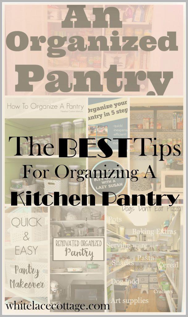 Kitchen Pantry Organizing Ideas