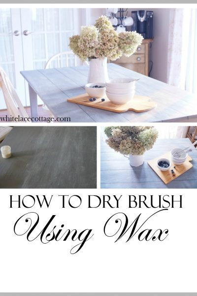 How To Dry Brush Furniture Using Wax