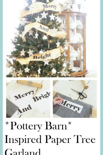 Christmas Tree Garland (Pottery Barn Inspired)