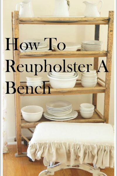 How To Reupholster A Bench Chair Or Stool