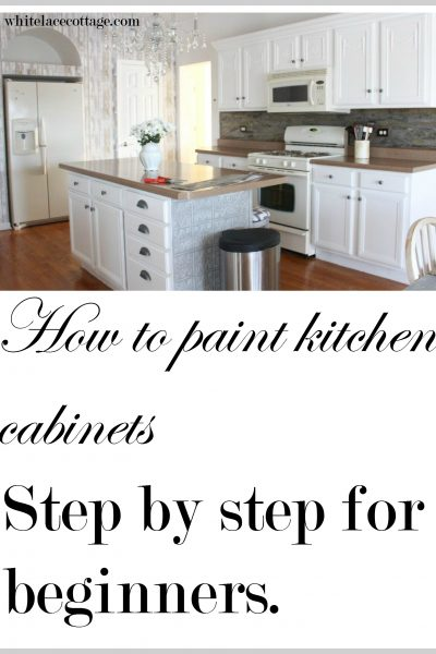 Painting Kitchen Cabinets How To Step By Step