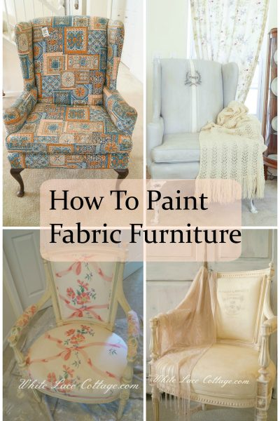 How To Paint Fabric Furniture