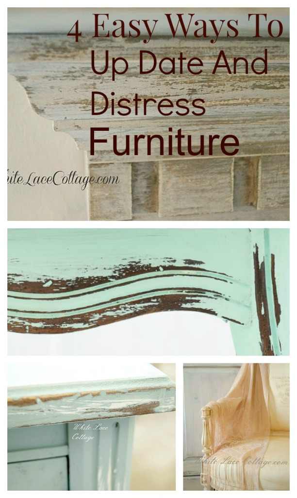 4 easy ways to update and distress funiture