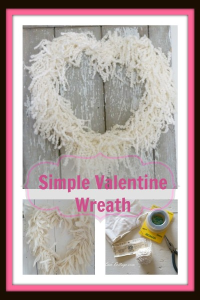 Simple Valentine Heart Wreaths