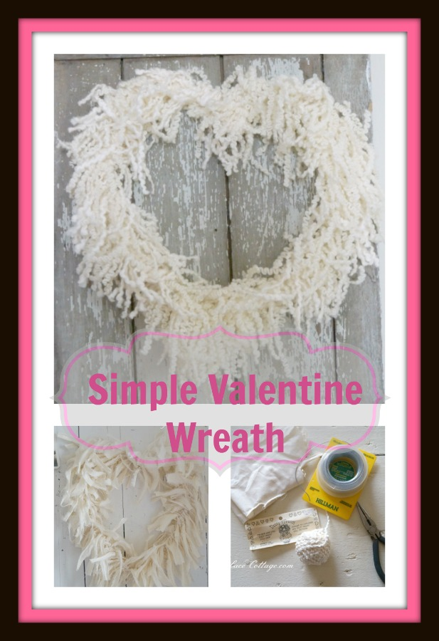 simple valentine wreath