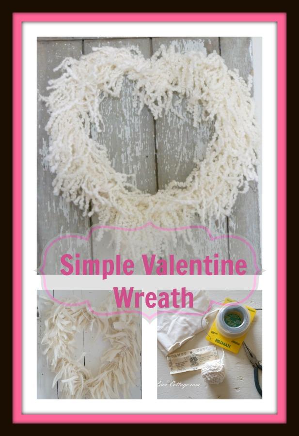simple valentine wreath
