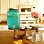 Mason Jar and Lemon Water