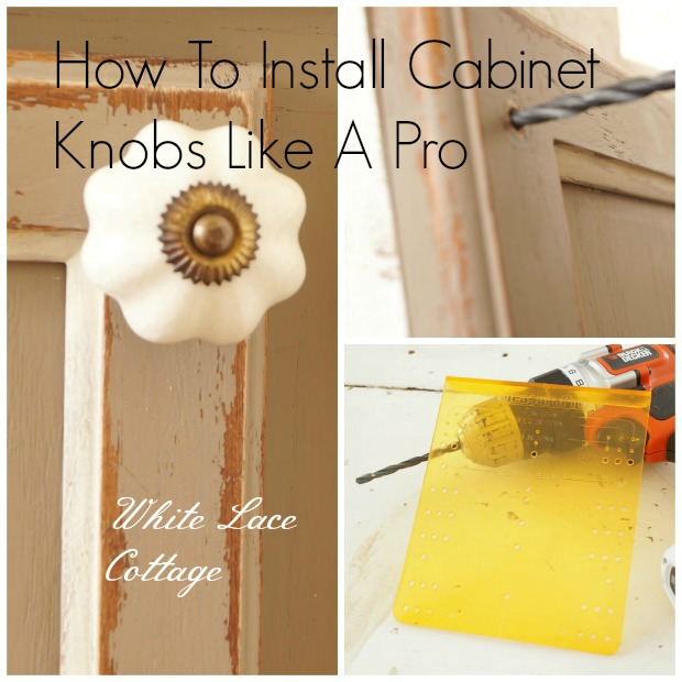 how to install cabinet knobs like a pro