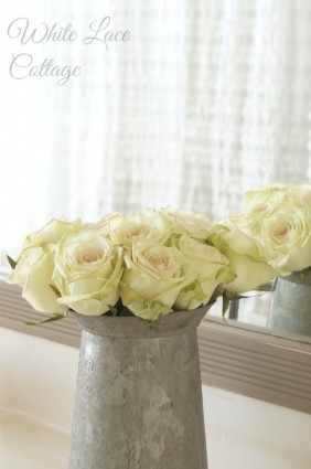 roses zinc pitcher