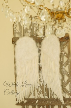 angel wings white lace cottage