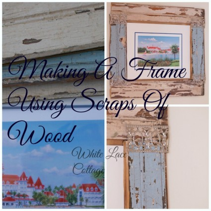 making a frame using scraps of wood