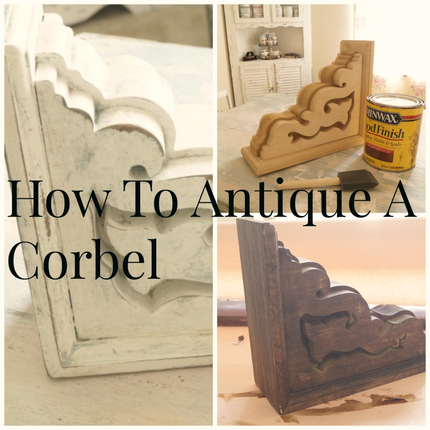 How to age and antique a corbel - Debbiedoos
