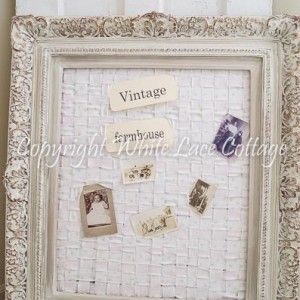 how to make a shabby chic memo board-21