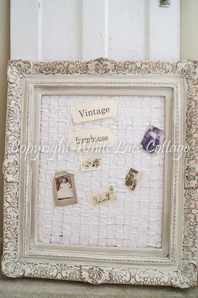 Shabby Chic Memo Board - White Lace Cottage