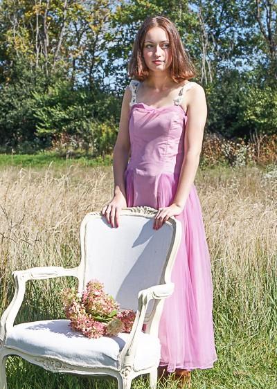 Prairie Style Vintage Prom Dress