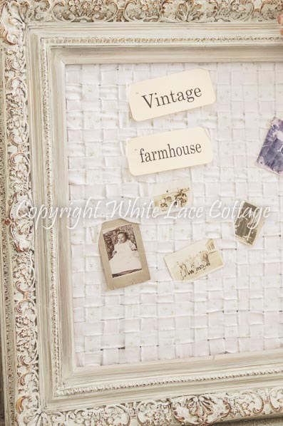 Shabby Chic Memo Board White Lace Cottage Gorgeous Funky Memo Boards