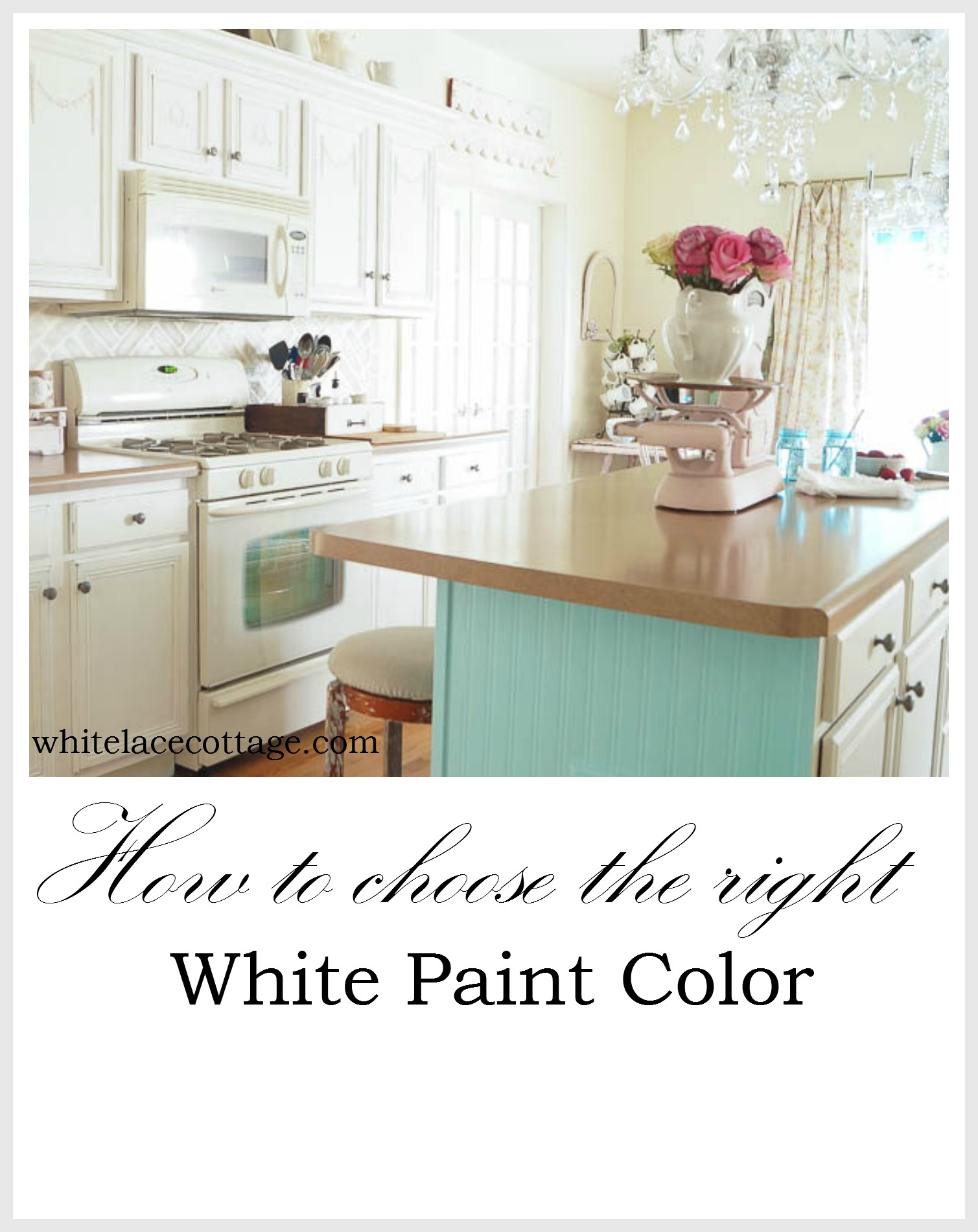 how to choose the right white paint color white lace cottage. Black Bedroom Furniture Sets. Home Design Ideas
