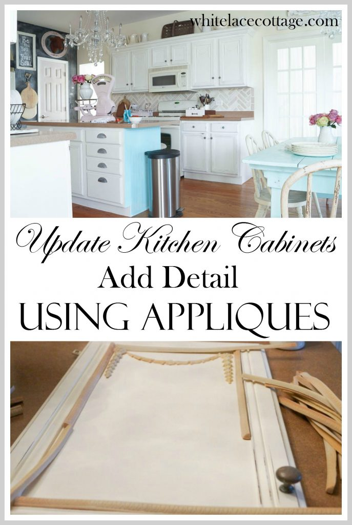 Merveilleux Update Kitchen Cabinets Using Appliques