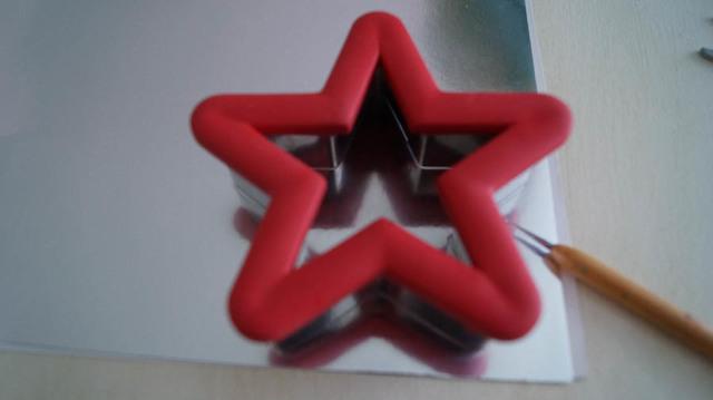 German glass glitter star ornaments-4