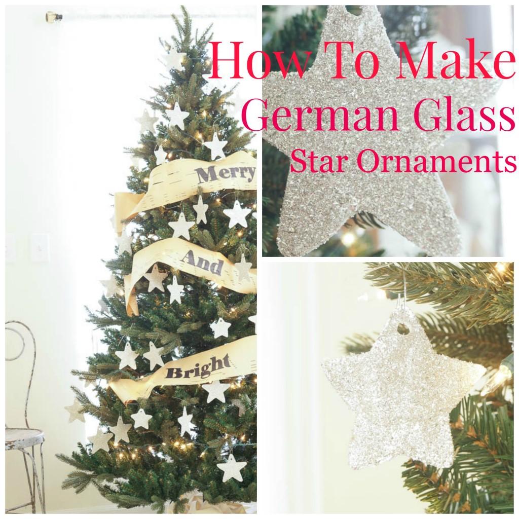 german glass star ornaments