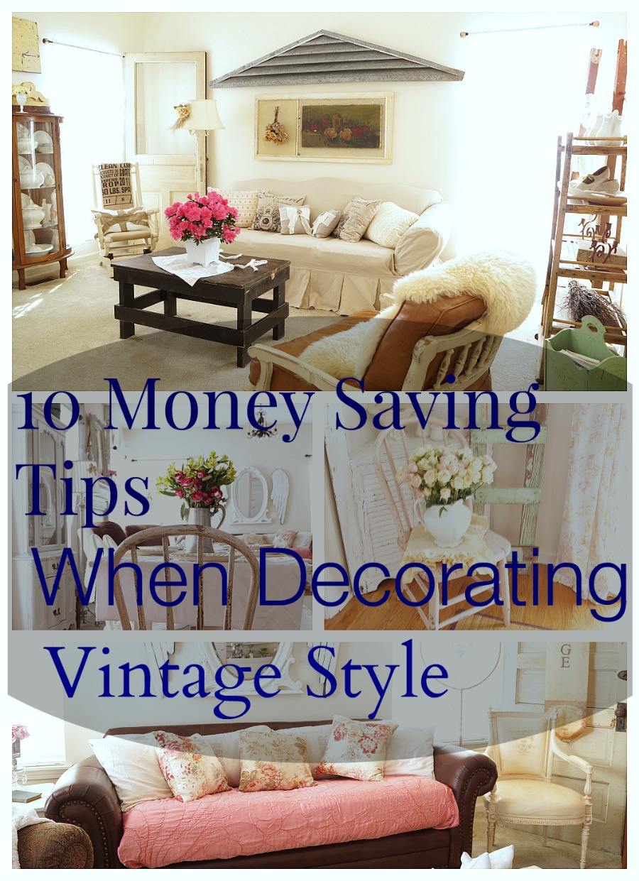 10 money saving tips when decorating vintage style