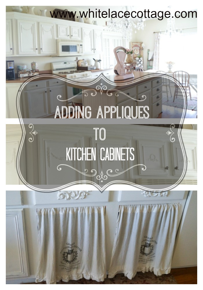 adding appliques to kitchen cabinets