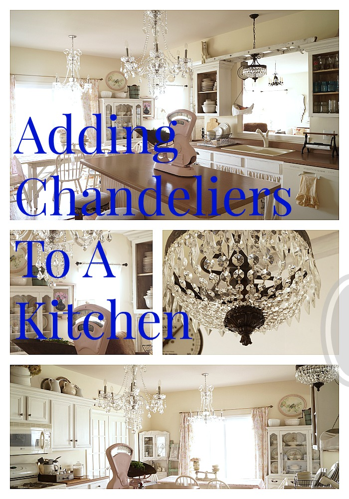 adding chandeliers to a kitchen