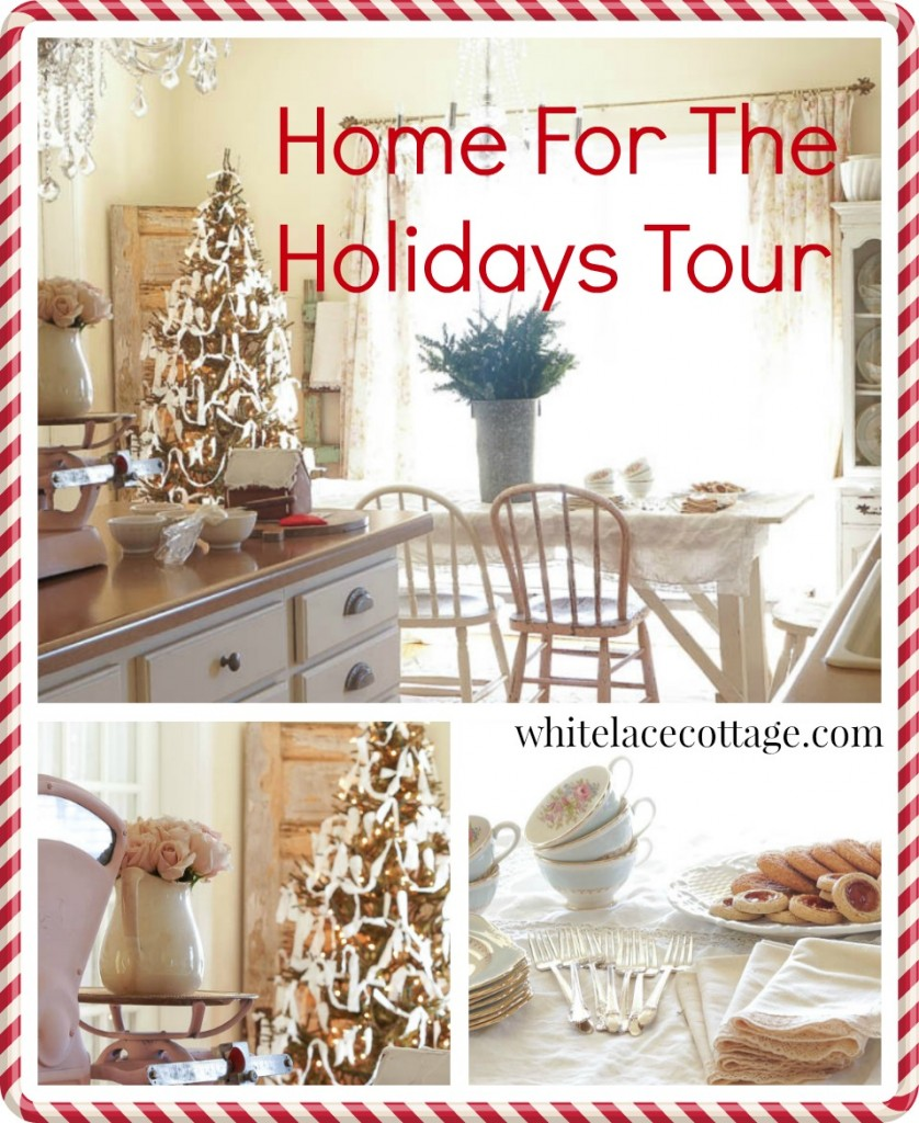 home for the holidays tour white lace cottage